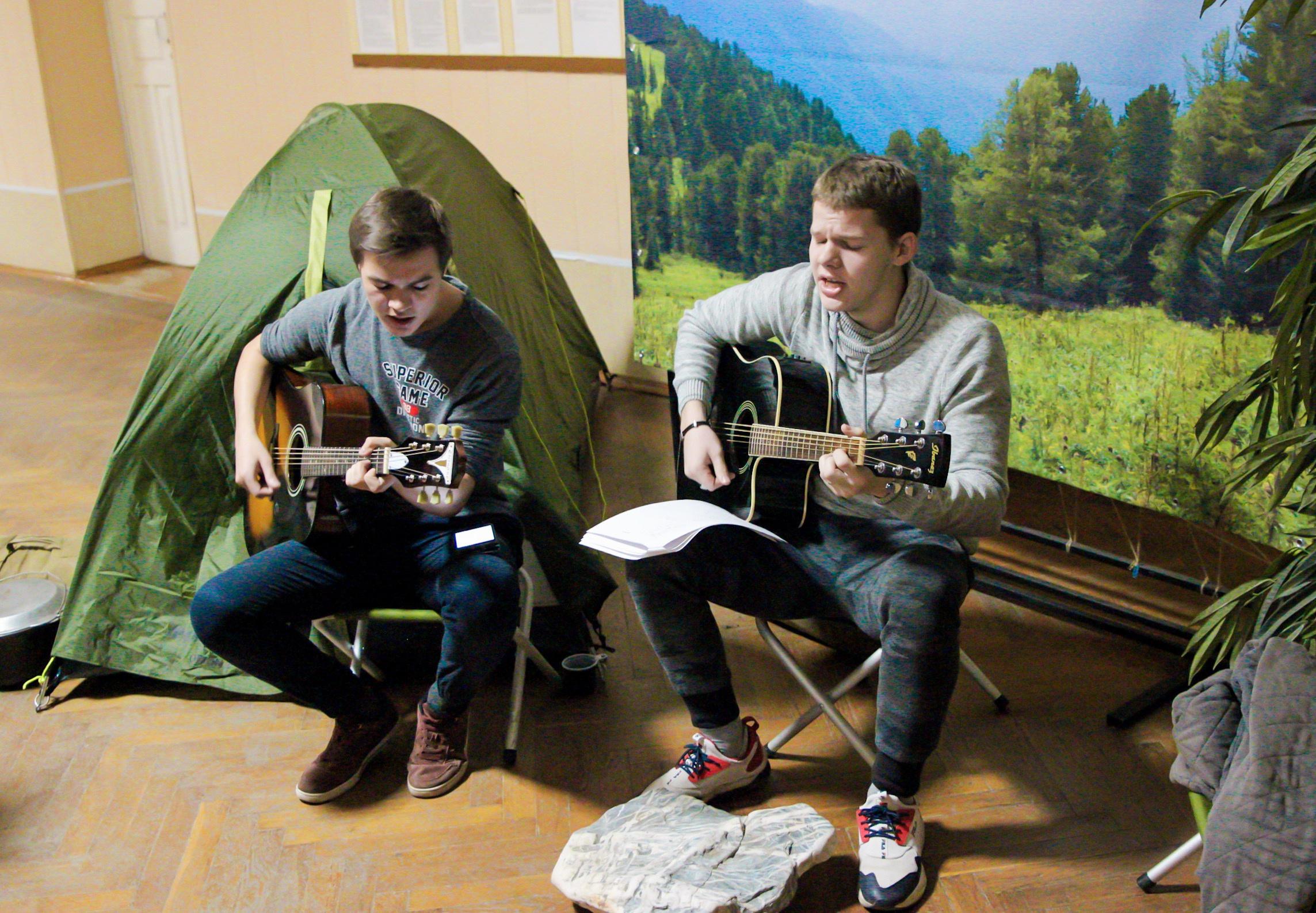 На локации туристических песен в ОГПУ. Фото: Т. Чижова