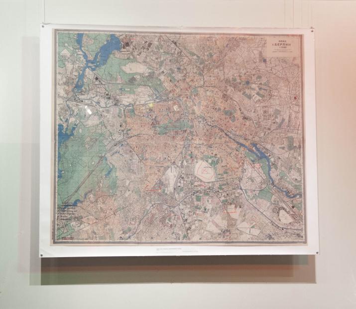 Карта Берлина с пометками И.В.Сталина. Фото: Алёна Александрова