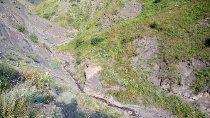 Остатки моста через речку Лгарвац. Фото предоставлено Дагестанским республиканским отделением РГО