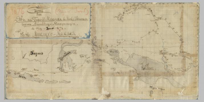 Карта, составленная Н.М. Миклухо-Маклаем