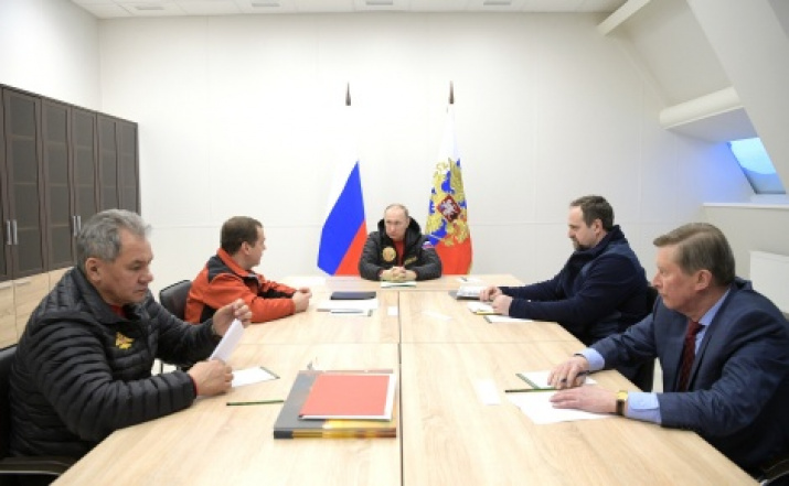 Meeting on the item of complex development of the Arctic. Photo from the website kremlin.ru