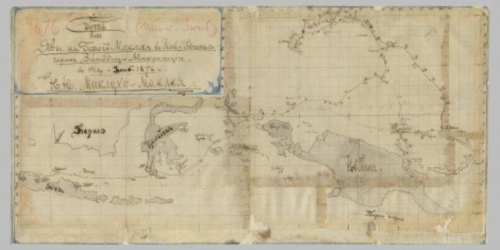A map compiled by N.N. Miklouho-Maclay