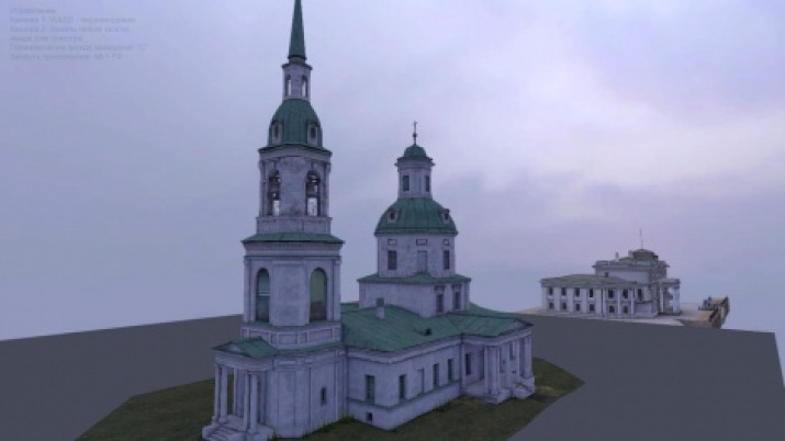 3D model of a church in the village of Ilovna. Photo provided by expedition participants