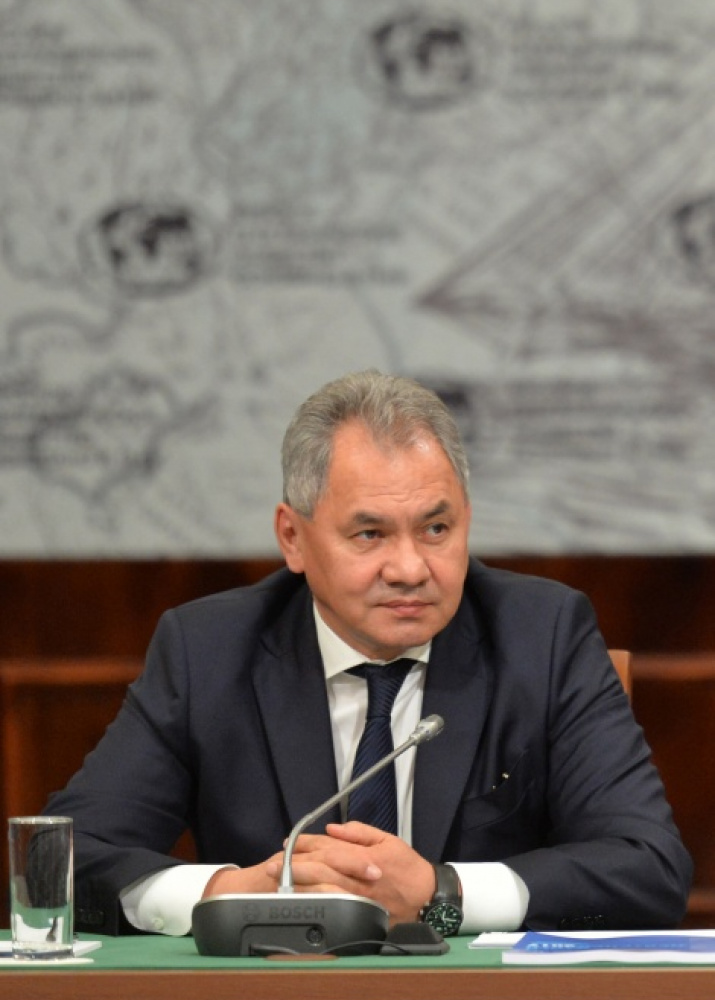 President of the Russian Geographical Society Sergei Shoigu. Photo by the press service of the Society.