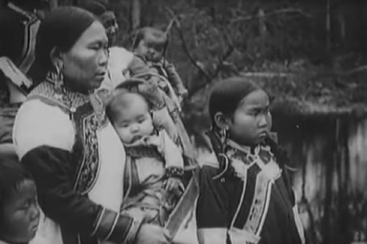 "From the film ""Forest people"" (1928)"