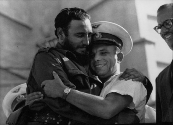 Meeting of Fidel Castro and Yuri Gagarin. Site: wikipedia.org