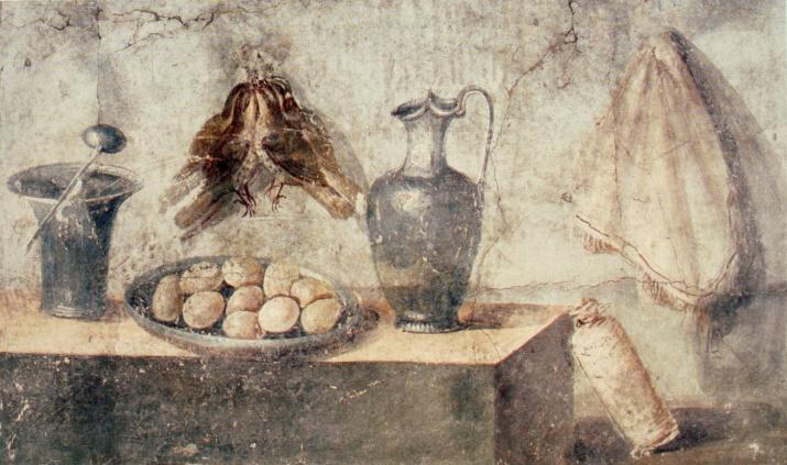 Примерно так мог выглядеть ужин древнего акринца. Дом Юлии Феликс, Помпеи. Фото: wikipedia.org