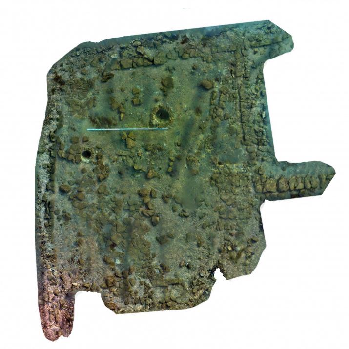 3D-модель стены. Изображение предоставлено участниками экспедиции Акра – античный город Боспора