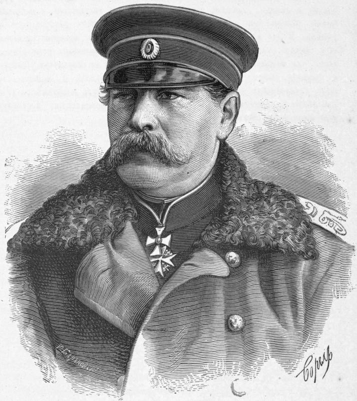 Э.И. Тотлебен. Гравюра с фотографии (1878)