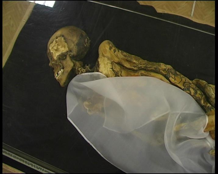 Следы замысловатых татуировок сохранились на коже «принцессы Укока» (пазырыкская культура, V в. до н. э.). Фото: wikipedia.org