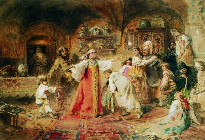 """""""Игра в жмурки"""", Константин Маковский, 1890-е. Источник: wikipedia.org"""