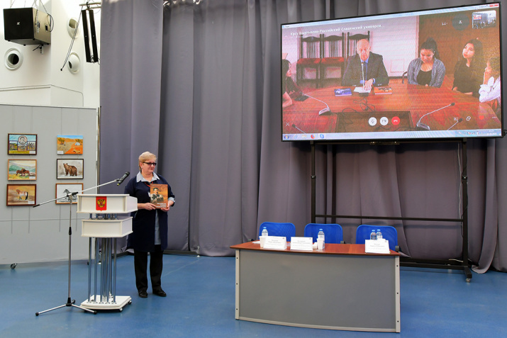 Телемост с Киргизско-славянским университетом города Бишкек. Фото: Геннадий Дубино