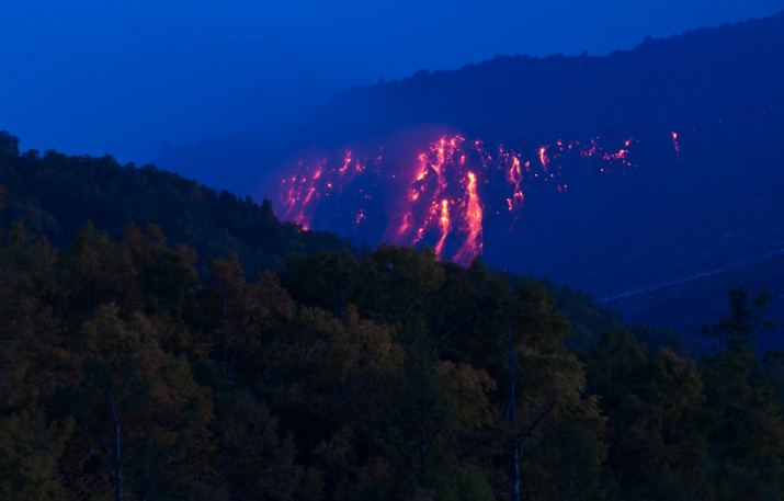Лавовый поток вулкана Кизимен. Фото: Пётр Шпиленок