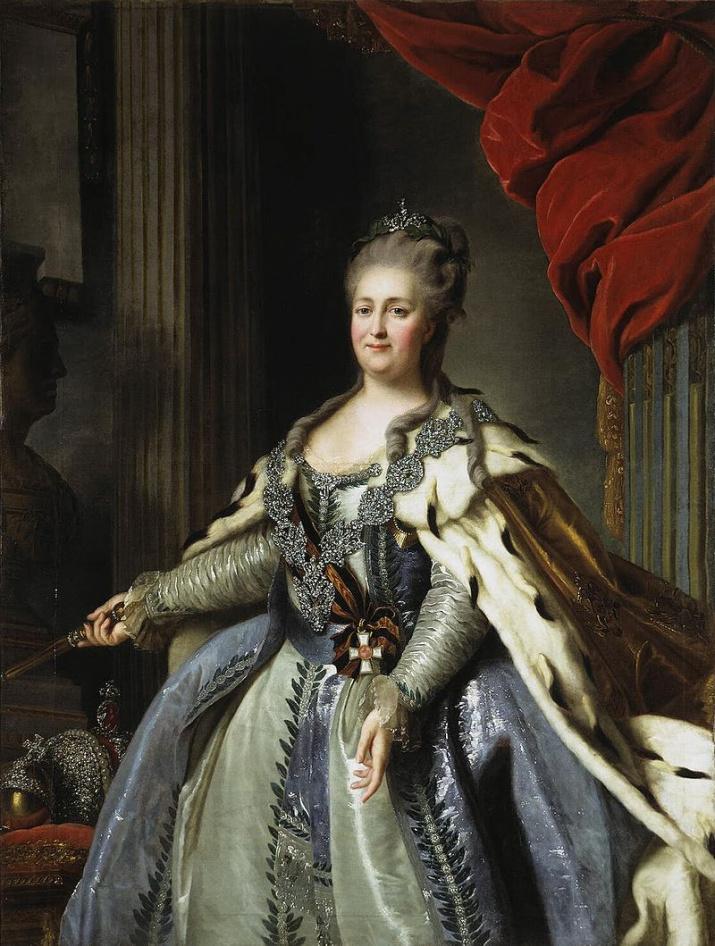 Екатерина II с орденом Св. Георгия 1-й степени. Ф. Рокотов, 1770, wikipedia.org