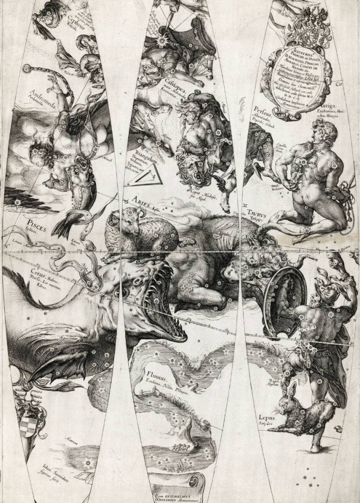 Небесная сфера Вильема Янсона, 1600