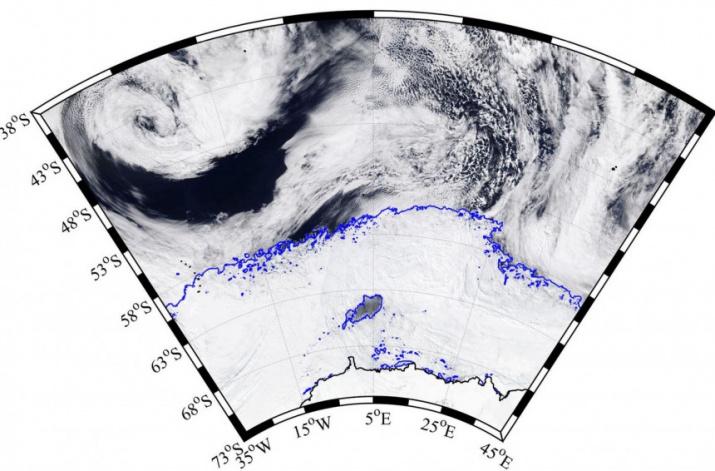 Спутниковые снимки Антарктиды. Сайт: Фото: gazzetta.gr
