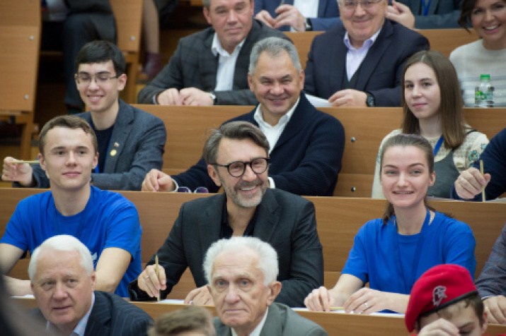 Participants of the Geographical Dictation - 2019 at the central venue at Lomonosov Moscow State University. Photo: Alexey Mikhailov