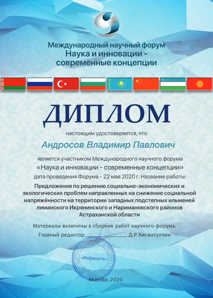 Диплом Андросова Владимира Павловича