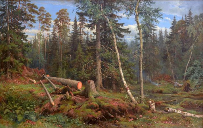 Рубка леса. Художник: Иван Шишкин. 1867 год