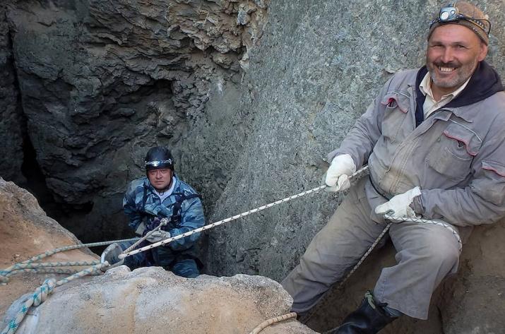 Илья Головачев и Иван Семириков на спуске