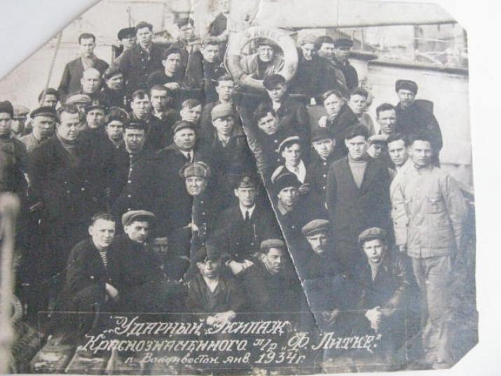 """Экипаж ледокола """"Литке"""". 1934 год. Источник: wikipedia.org"""