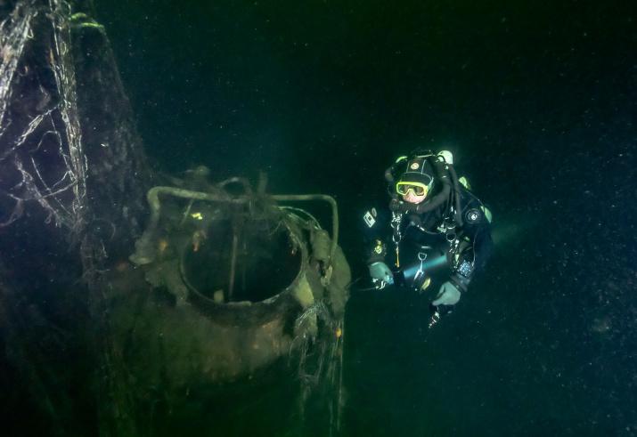 """Корпус М-96 был обнаружен северной части Нарвского залива на глубине 42 метра. Фото: """"Разведывательно-водолазная команда"""""""