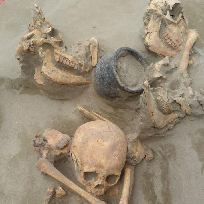 Захоронение мальчика эпохи хунну. Фото: Павел Леус
