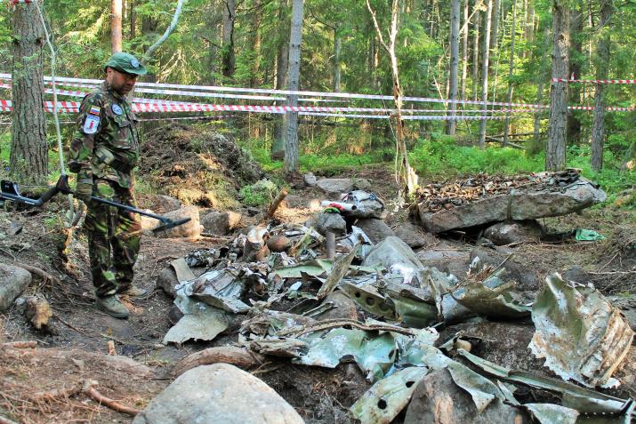Место гибели самолета Пе-2. Фото: Татьяна Николаева