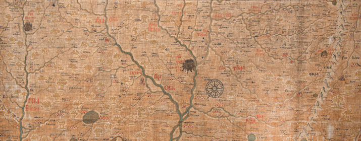 Карта Семёна Ремезова. Фото: Александр Филиппов