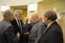 Председатель Башкирского отделения РГО Камиль Зиганшин на церемонии вручения премии (второй слева)