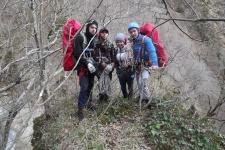 Тренировочный поход студентов Апшеронского лесохозяйственного техникума