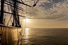 Учебное парусное судно «Седов» в Чёрном море