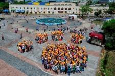 """Флешмоб во Владивостоке, 2014 год. Фото предоставлено АНО """"Дальневосточные леопарды"""""""