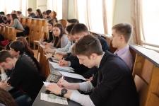 Участники акции ''Географический диктант – 2015''