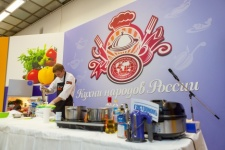 Festival guests can take a little culinary trip around Russia