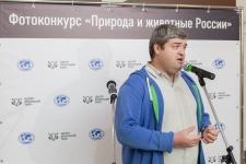 Сергей Доля на открытии выставки