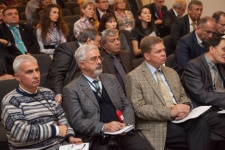 Participants of «Geographical societies of the world: perspectives of cooperation» roundtable at the Society Festival