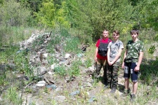 Участники экологического рейда