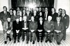 На заседании научно-консультативного совета по медицинской географии. 1985 год. А.А. Келлер - в первом ряду, пятый слева