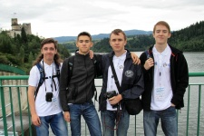 Members of the Russian team at the XI International Geographic Olympiad