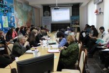 Рабочий момент семинара. Выступление Татьяны Ефимовны Вежевич