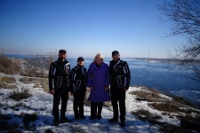 Участники экспедиции с председателем ВО РГО Л. В. Деточенко