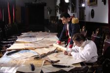 Кадр из венесуэльского фильма о Франциско Миранде и Симоне Боливаре. Фото предоставлено А.В. Ховановым