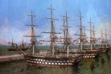 """Корабль """"Лефорт"""" на рейде. Изображение предоставлено Разведывательно-водолазным клубом"""