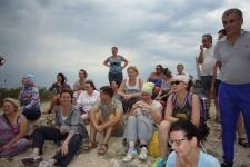 На вершине Молодецкого кургана. Фото предоставлено Самарским областным отделением РГО
