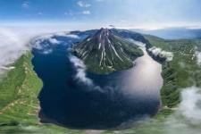 Krenitsyn Volcano, Island Onekotan. Photo: Airpano.ru