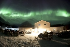 The still from the video «Auroras of the 2nd -3rd of April in Hibiny»