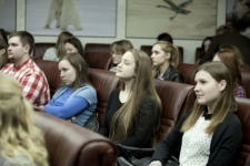 The Youth Intellectual Club of the Russian Geographical Society meeting. Photo by Nikolay Razuvayev