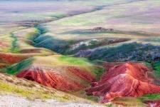 The scarlet slopes Big Bogdo in Bogdinsko-Baskunchaksky Reserve, Astrakhan region. May, 2011. Photo by Anton Agarkov