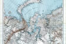 Фрагмент одного из листов стоверстной карты Азиатской России
